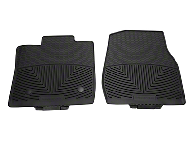 Weathertech All Weather Front Rubber Floor Mats - Black (15-18 Regular Cab)