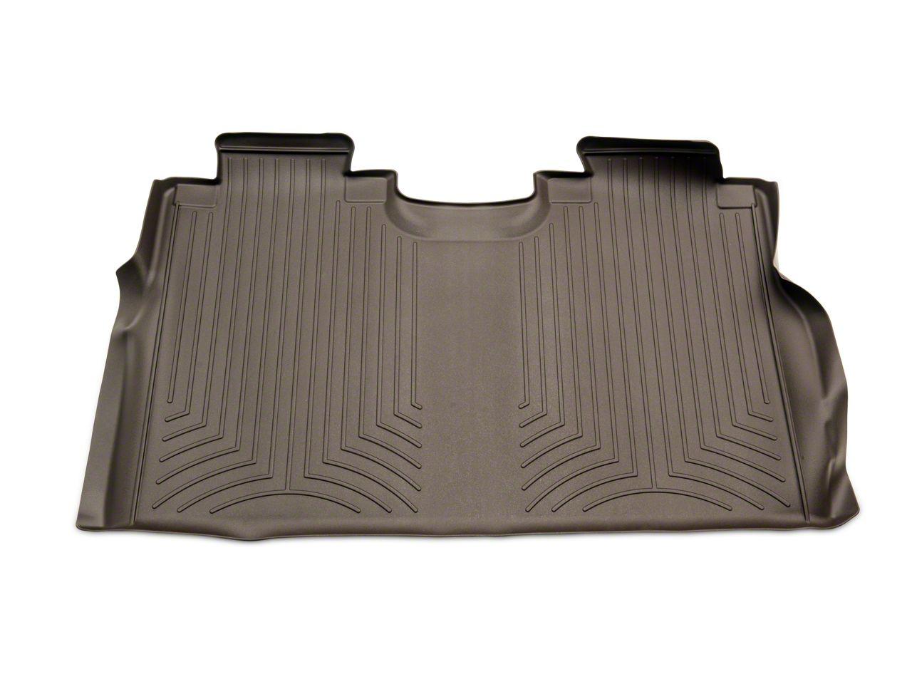 Weathertech DigitalFit Rear Floor Liner - Cocoa (15-19 F-150 SuperCrew w/ Front Bucket Seats)