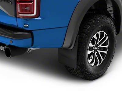 Weathertech Rear No Drill MudFlaps - Black (17-18 Raptor)
