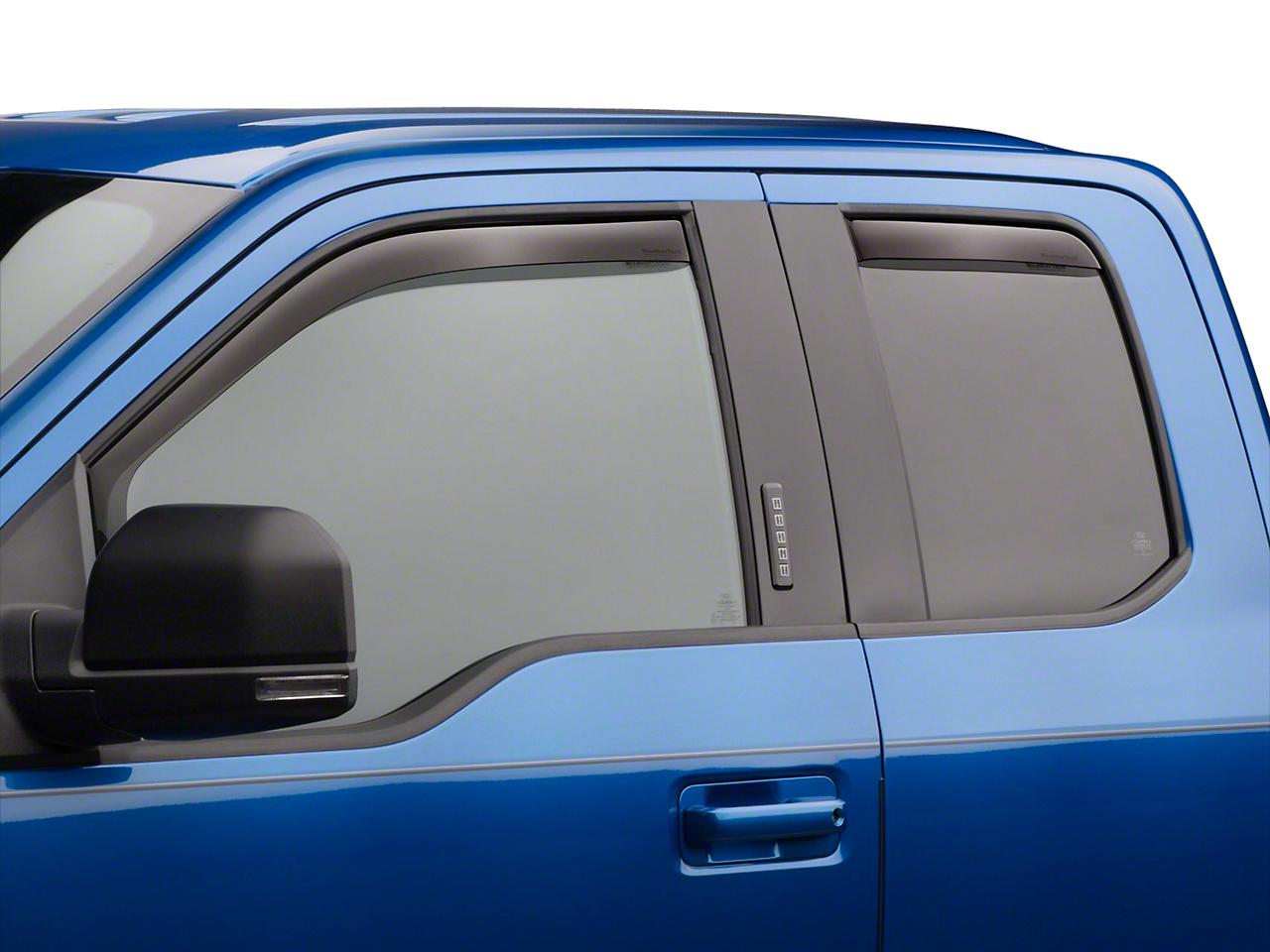Weathertech Rear Side Window Deflectors - Light Smoke (97-03 F-150)