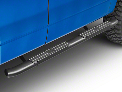 Steel Craft 4X Series 4 in. Oval Side Step Bars - Black (09-14 F-150 SuperCab, SuperCrew)
