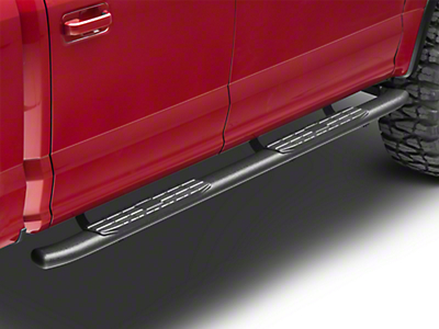 Steel Craft 4X Series 4 in. Oval Side Step Bars - Black (15-18 F-150 SuperCab, SuperCrew)