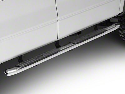 Steel Craft 4X Series 4 in. Oval Side Step Bars - Stainless Steel (09-14 F-150 SuperCab, SuperCrew)