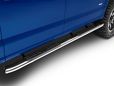Steel Craft 4X Series 4 in. Oval Side Step Bars - Stainless Steel (15-18 F-150 SuperCab, SuperCrew)