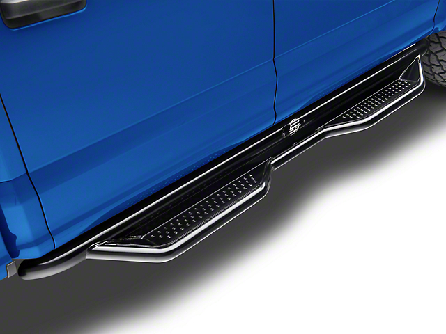 Steel Craft Heavy Duty Side Step Bars - Semi-Gloss Black (15-19 F-150 SuperCab)