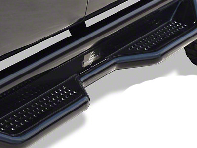 Steel Craft Heavy Duty Side Step Bars - Textured Black (15-18 F-150 SuperCab)