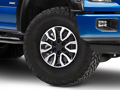Gen2 Raptor Style Black Machined 6-Lug Wheel - 17x8.5 (04-19 F-150)