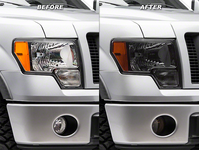 Smoked Headlight & Fog Light Tint (09-14 F-150)