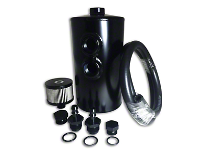 Prosport Dual Baffle Aluminium Oil Catch Can - Black (97-18 F-150)
