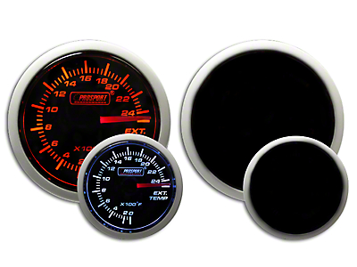 Prosport Dual Color Exhaust Gas Temperature Gauge - Electrical - Amber/White (97-18 F-150)