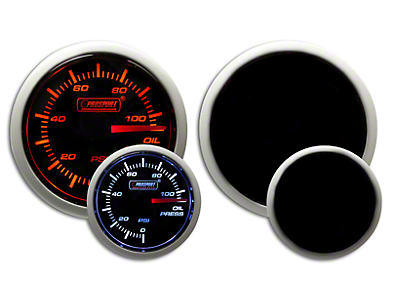 Prosport Dual Color Oil Pressure Gauge - Electrical - Amber/White (97-18 F-150)