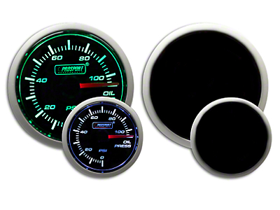 Prosport Dual Color Oil Pressure Gauge - Electrical - Green/White (97-18 F-150)