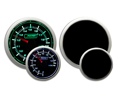 Prosport Dual Color Volt Gauge - Electrical - Green/White (97-18 F-150)