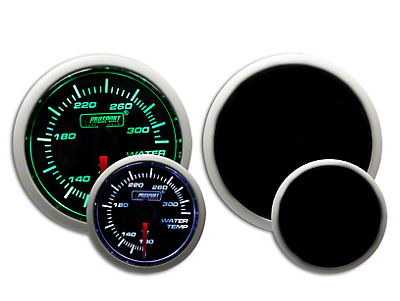 Prosport Dual Color Water Temperature Gauge - Electrical - Green/White (97-18 F-150)