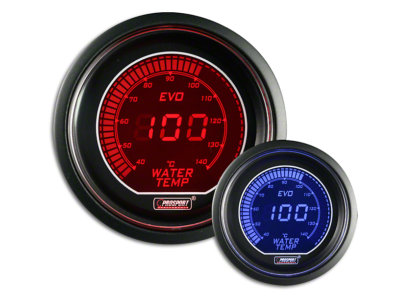 Prosport Dual Color Evo Celsius Water Temperature Gauge - Electrical - Red/Blue (97-19 F-150)