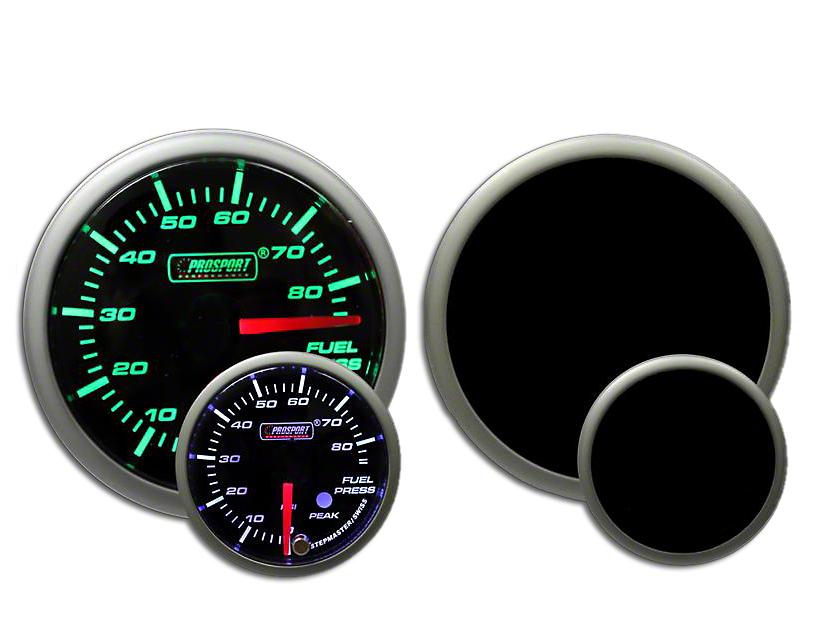 Prosport Dual Color Premium Fuel Pressure Gauge - Green/White (97-18 F-150)