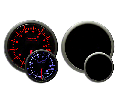 Prosport Dual Color Premium Metric Oil Pressure Gauge - Amber/White (97-18 F-150)