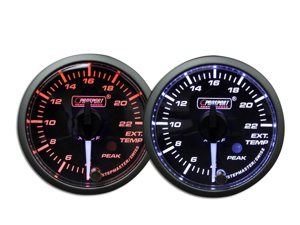 Prosport Universal 52mm Premium Evo Electrical EGT Exhaust Temperature Gauge Red//White//Blue//Green