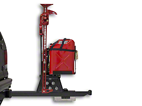 Wilco Offroad Hi-Lift Jack Vertical Mount Tire Carrier & Steel Jerry Can Mounting Kit (97-18 F-150)
