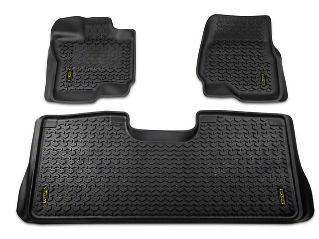 Barricade Front & Rear Floor Mats - Black (15-19 F-150 SuperCab, SuperCrew)