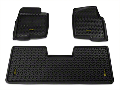 Barricade Front & Rear Floor Liners - Black (09-14 F-150 SuperCab, SuperCrew)