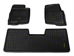 Barricade Front and Rear Floor Mats; Black (09-14 F-150 SuperCab, SuperCrew)