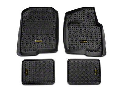 Barricade Front & Rear Floor Liners - Black (04-08 F-150 SuperCab, SuperCrew)
