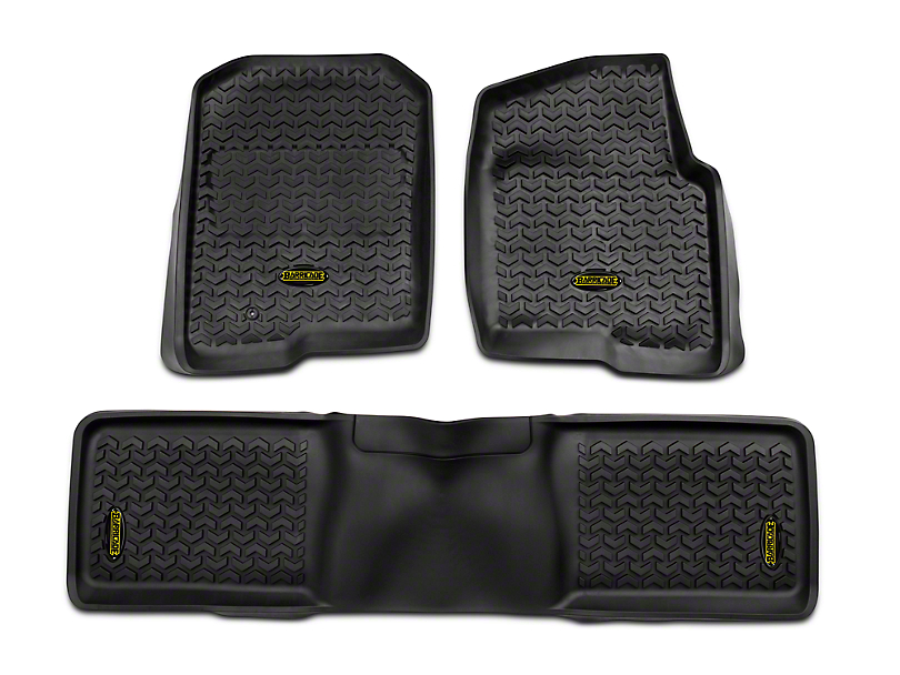 Barricade Front and Rear Floor Mats; Black (04-08 F-150 SuperCab, SuperCrew)