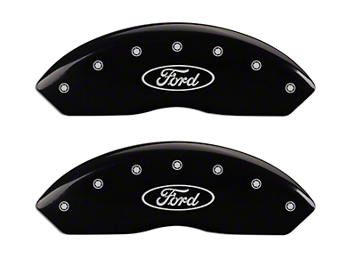 MGP Black Caliper Covers w/ Ford Oval Logo - Front & Rear (04-Early 09 F-150)