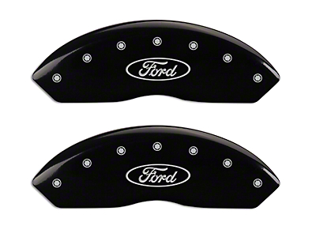 MGP Black Caliper Covers w/ Ford Oval Logo - Front & Rear (97-03 F-150)