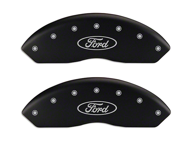 MGP Matte Black Caliper Covers w/ Ford Oval Logo - Front & Rear (04-09 F-150)