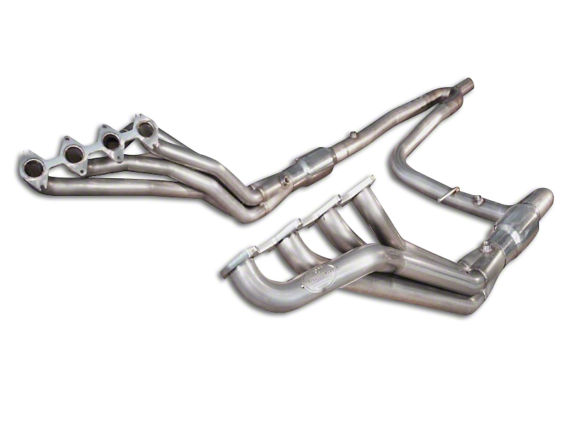 Stainless Works 1-3/4 in. Long Tube Headers w/ Catted Y-Pipe - Factory Connect (04-08 5.4L F-150)