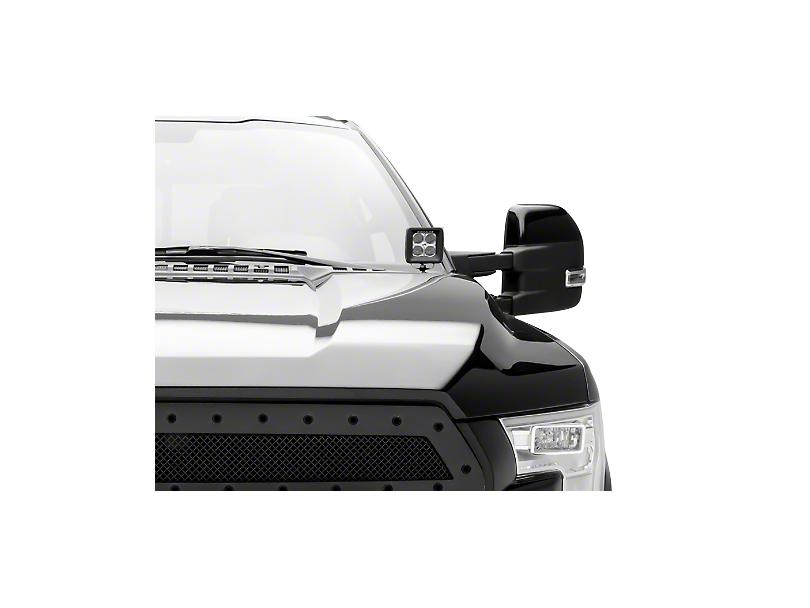 ZRoadz Two 3 in. LED Light Cubes w/ Hood Hinge Mounting Brackets (15-19 F-150)