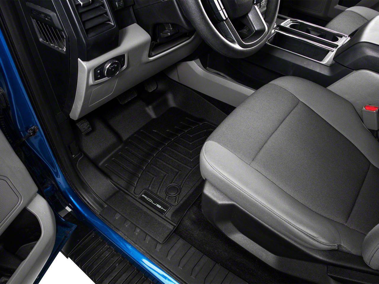 Roush by WeatherTech DigitalFit Front & Rear FloorLiners - Black (15-19 F-150 SuperCrew)