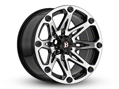 Ballistic Jester Flat Black Machined 6-Lug Wheel - 18x9 (04-18 F-150)