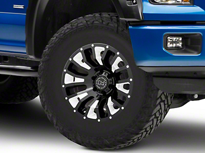 Black Rhino Pinatubo Gloss Black Milled 6-Lug Wheel - 17x9.5 (04-18 F-150)