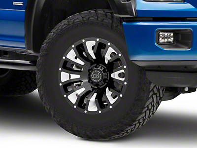 Black Rhino Pinatubo Gloss Black Milled 6-Lug Wheel - 18x9.5 (04-18 F-150)
