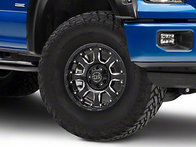 Black Rhino Sierra Gloss Black Milled 6-Lug Wheel - 17x9 (04-18 F-150)