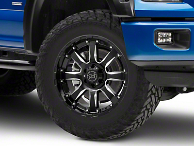 Black Rhino Sierra Gloss Black Milled 6-Lug Wheel - 20x9 (04-18 F-150)