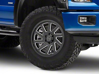 Black Rhino Thrust Gloss Black Milled 6-Lug Wheel - 20x9.5 (04-18 F-150)