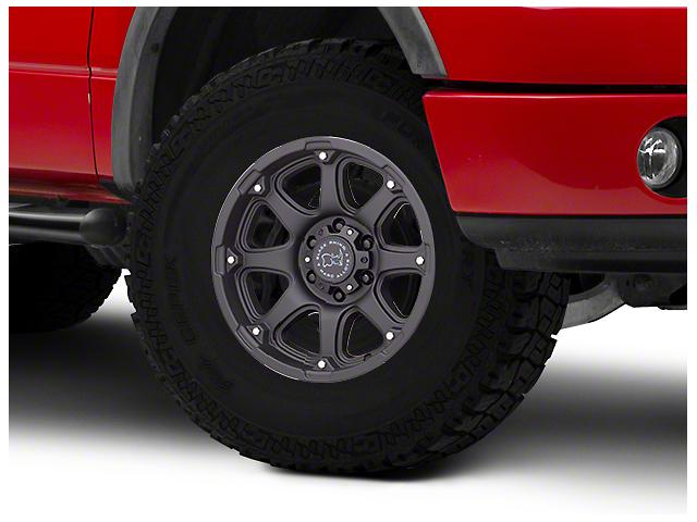 Black Rhino Glamis Matte Black 6-Lug Wheel; 17x9; 12mm Offset (04-08 F-150)