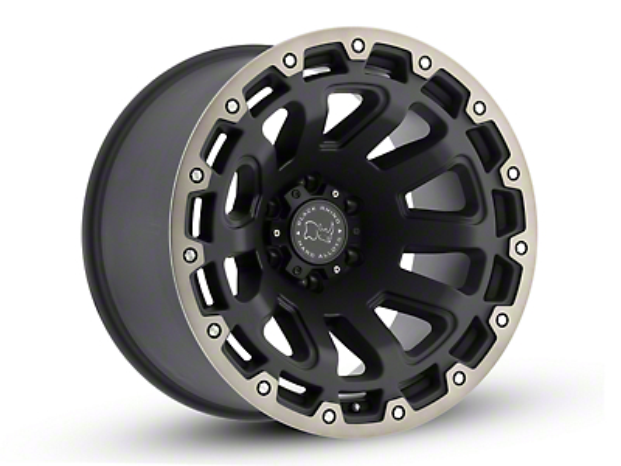 Black Rhino Razorback Matte Black Machined 6-Lug Wheel - 20x9 (04-18 F-150)