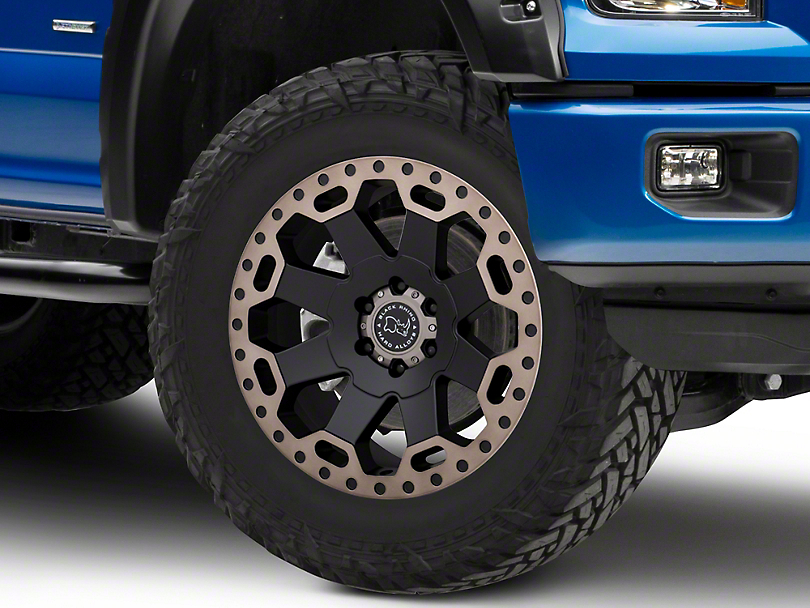 Black Rhino Warlord Matte Black Machined 6-Lug Wheel - 20x9; 12mm Offset (15-19 F-150)