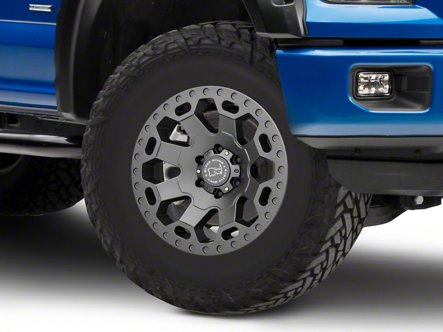 Black Rhino Warlord Matte Gunmetal 6-Lug Wheel - 18x9; 12mm Offset (15-19 F-150)