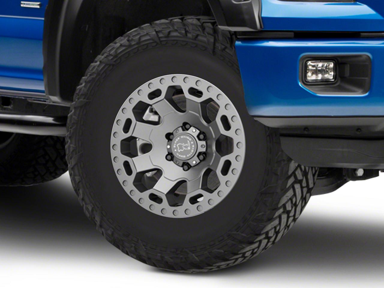 Black Rhino Warlord Matte Gunmetal 6-Lug Wheel - 17x9 (04-18 F-150)