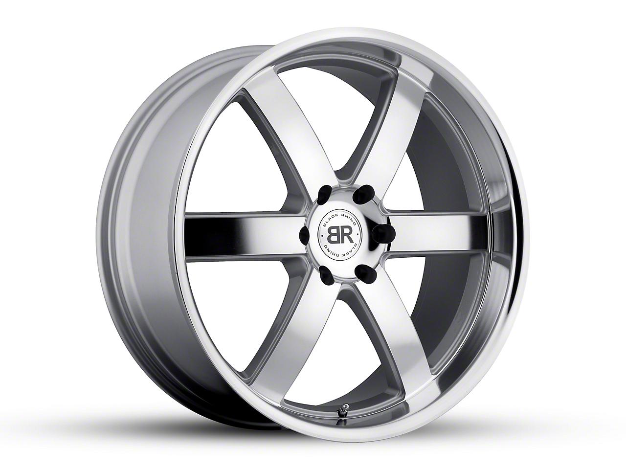 Black Rhino Pondora Silver 6-Lug Wheel - 22x9.5 (04-18 F-150)