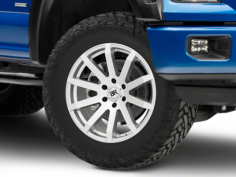 Black Rhino Traverse Silver 6-Lug Wheel - 20x9; 30mm Offset (15-19 F-150)