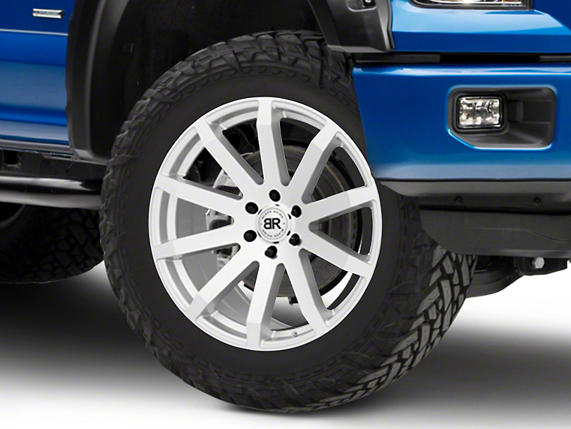 Black Rhino Traverse Silver 6-Lug Wheel - 22x9.5 (04-19 F-150)
