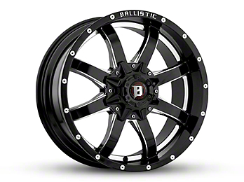 Ballistic Anvil Gloss Black Milled 6-Lug Wheel - 18x9 (04-18 F-150)