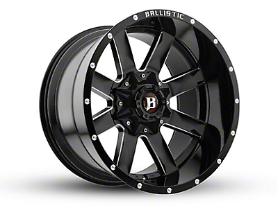 Ballistic Rage Gloss Black Milled 6-Lug Wheel - 20x12 (04-18 F-150)